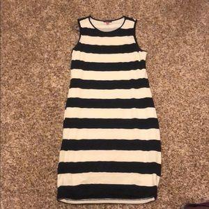 Vince Camino navy striped dress